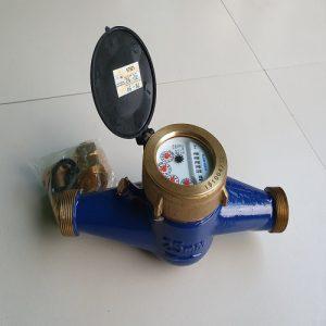 Đồng hồ nước Flowtech DN25 thân đồng